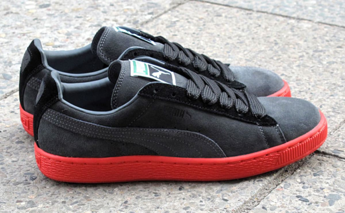 puma suede classic red and black