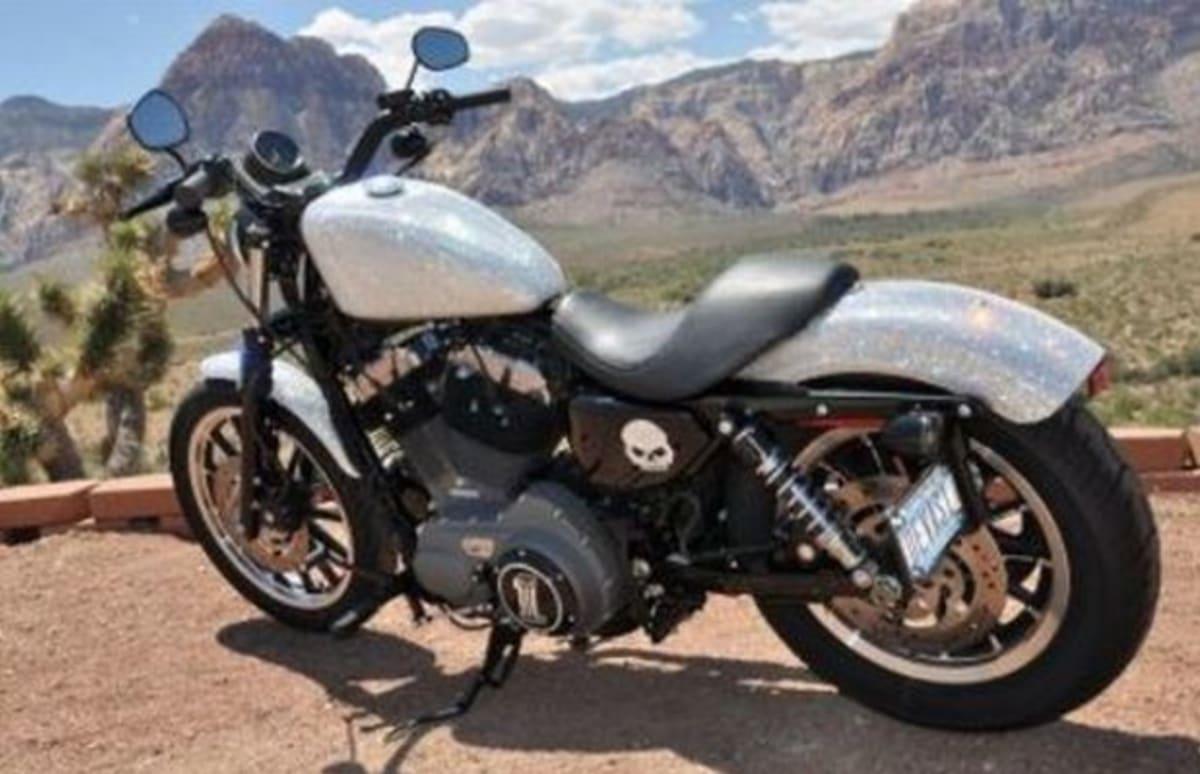 Ridiculously Swarovski Crystal Bejeweled Harley Davidson