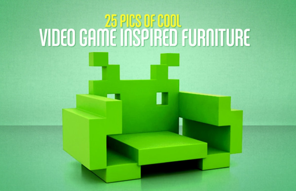 Space Invader Couch 21 Duck Hunt Lamp 25 Pieces Of Cool Video Game Inspired