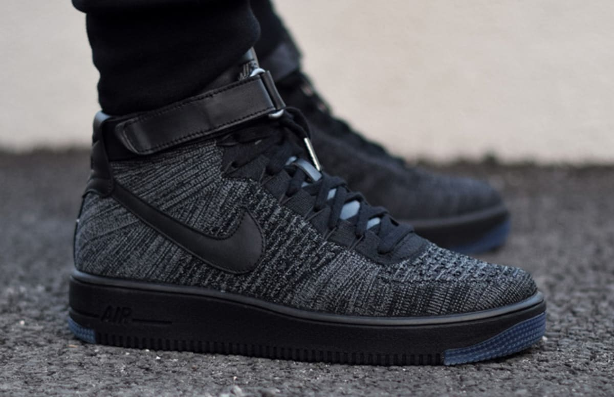 nike air force 1 ultra flyknit black grey complex. Black Bedroom Furniture Sets. Home Design Ideas