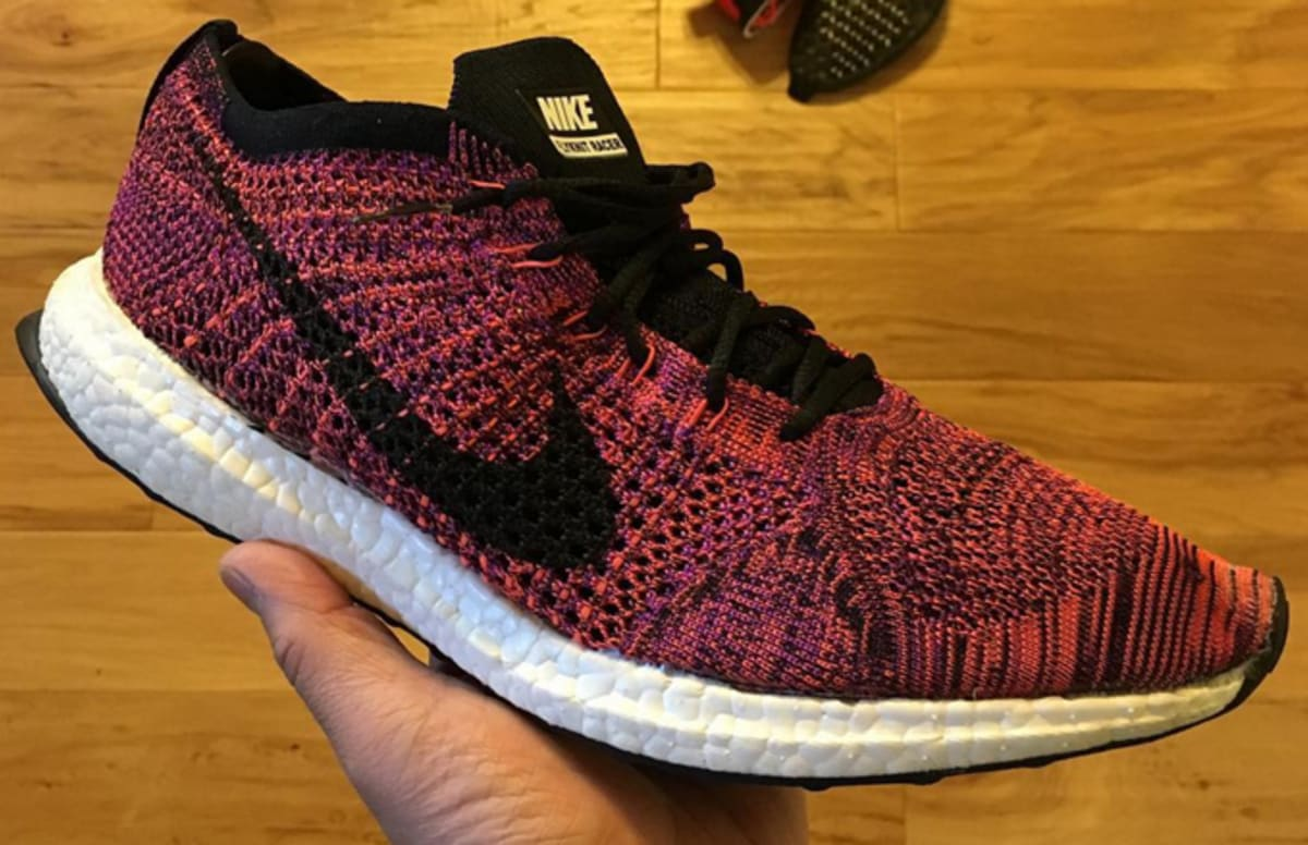 nike flyknit racer sole swap with adidas ultra boost complex