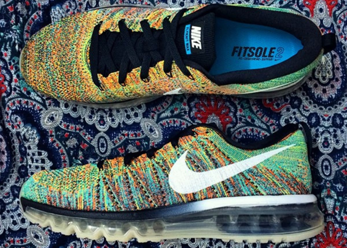 nike air max 2014 flyknit multicolor