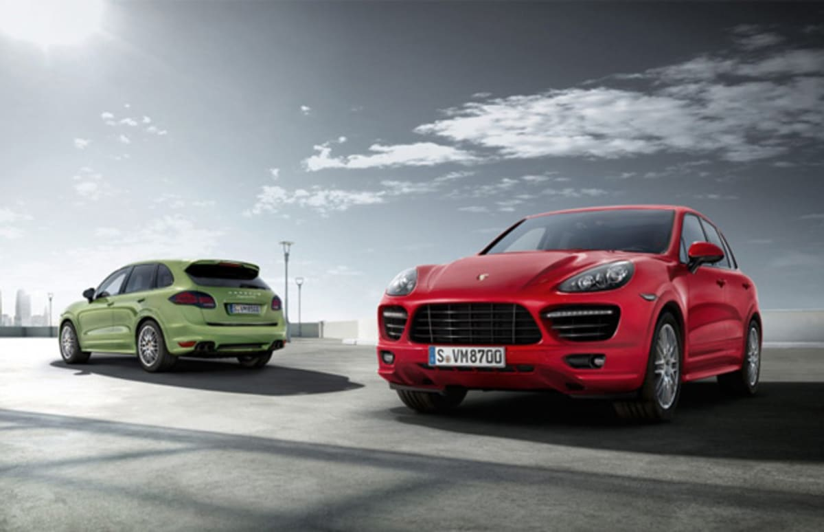porsche reveals 2013 cayenne gts before beijing auto show. Black Bedroom Furniture Sets. Home Design Ideas