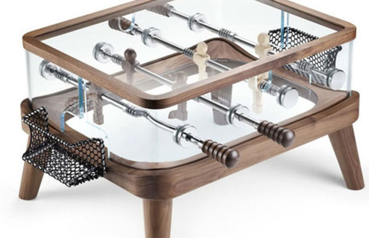 Foosball meets coffee table with new design from teckell for Complex table design
