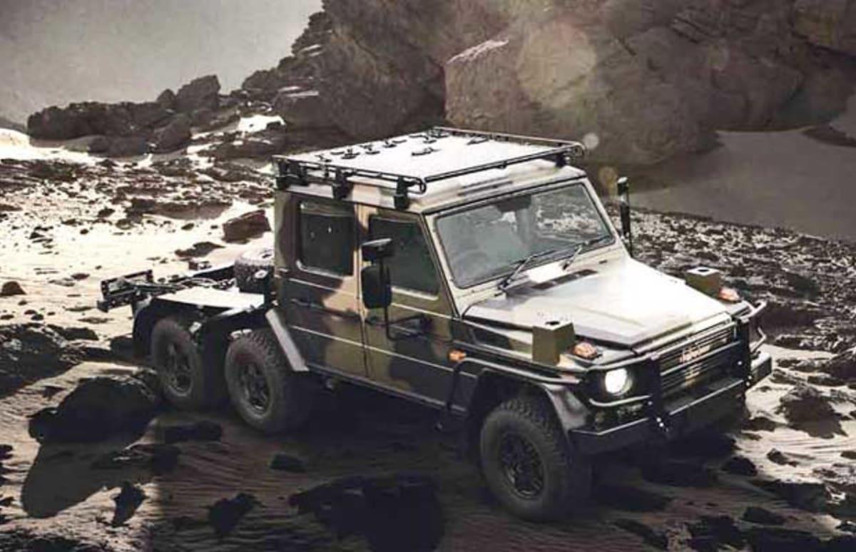 Mercedes benz turns an austrian military vehicle into the for Mercedes benz military vehicles
