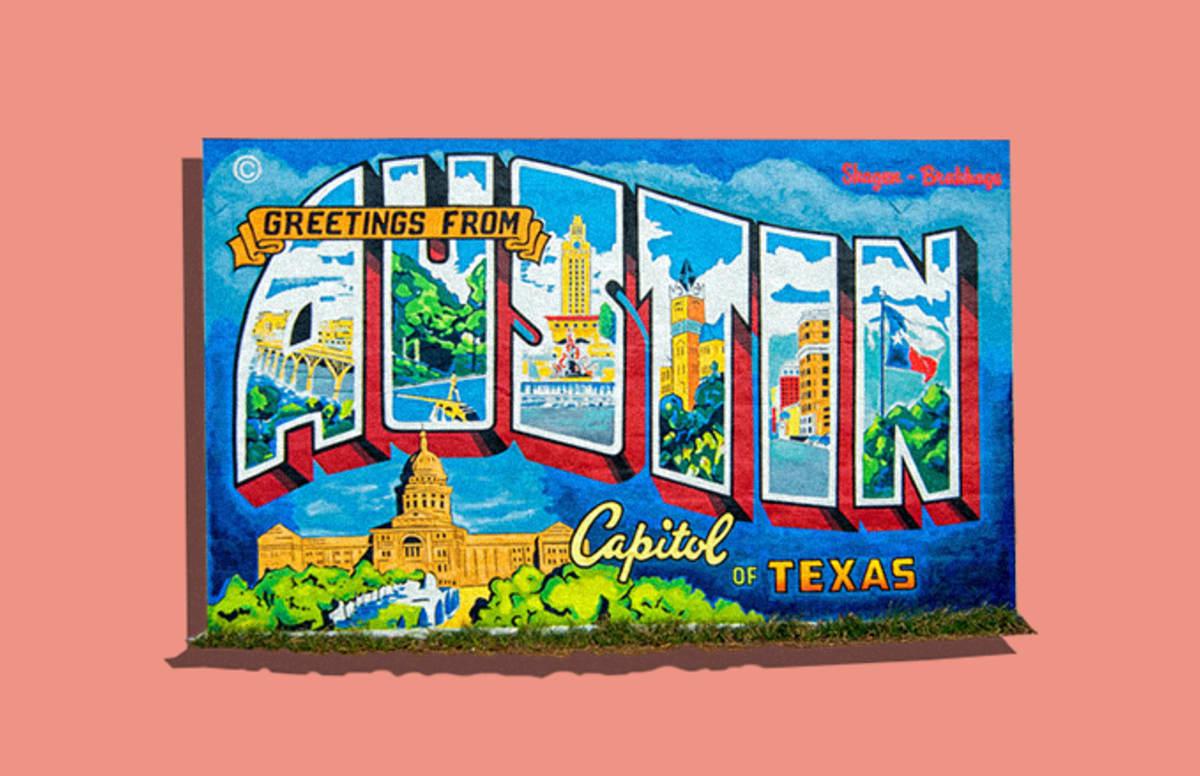 Greetings From Austin Hidden Art In Austin Texas Complex