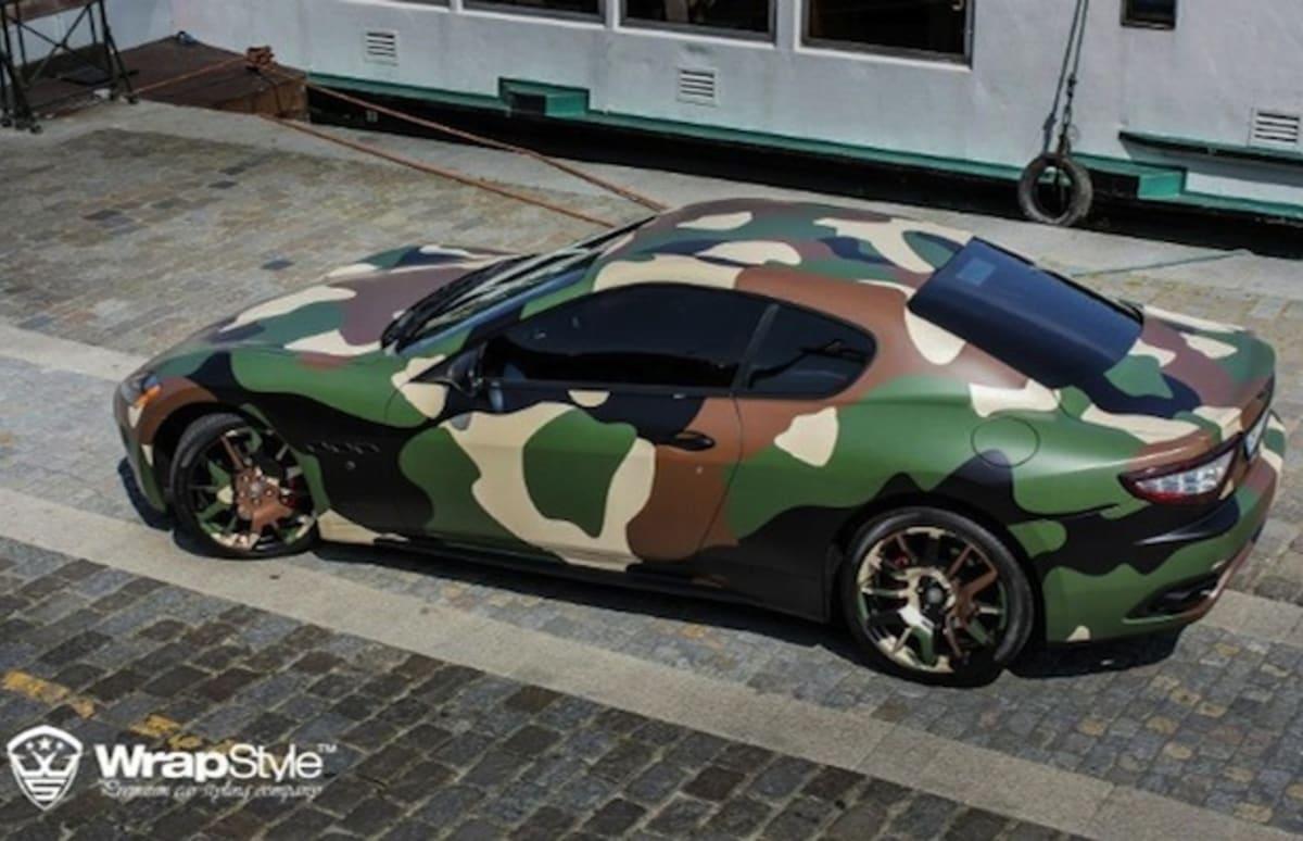 A Camo Wrapped Maserati Granturismo S For The Rich Deer Hunter In Fuse Box All Of Us Complex