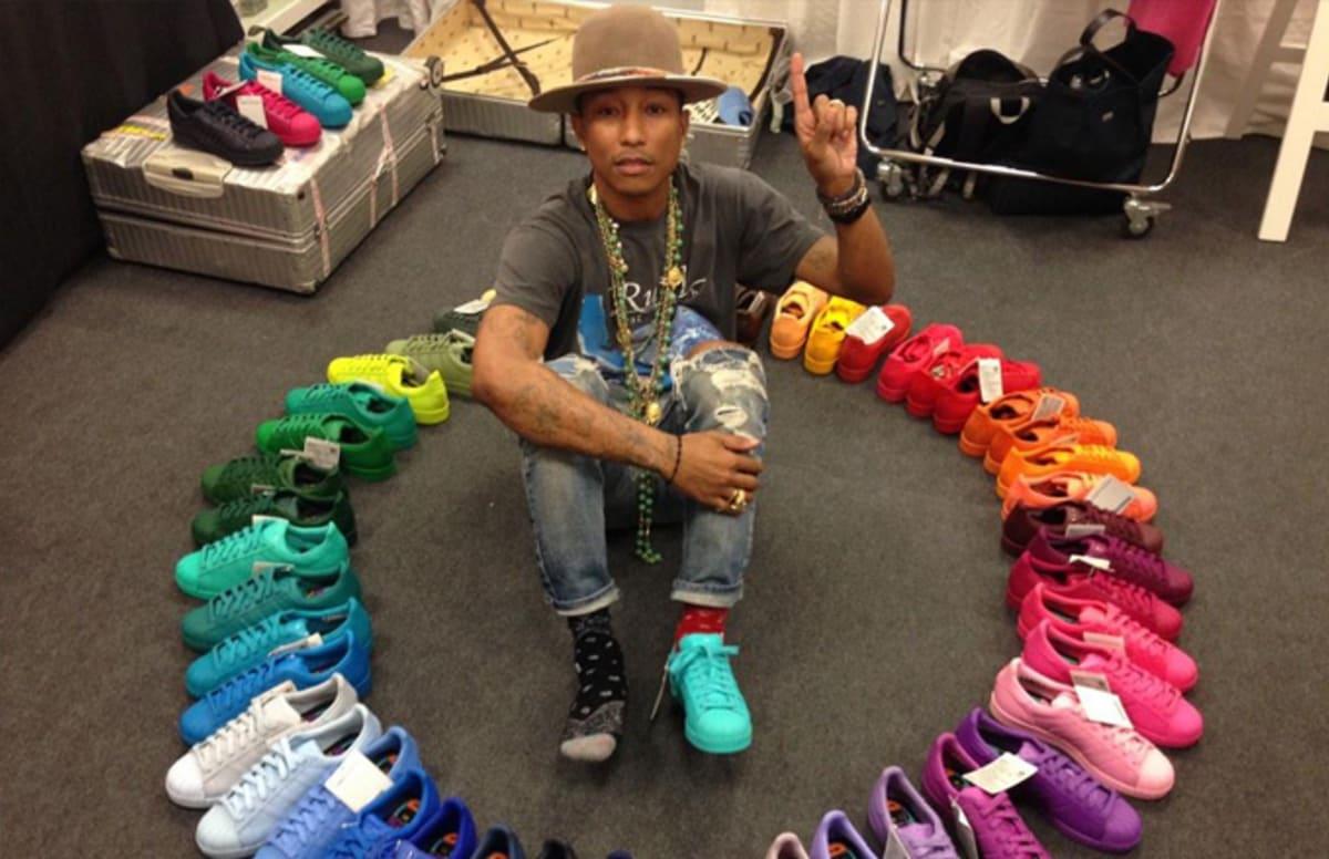 adidas pharrell. how the 50-sneaker pharrell x adidas \