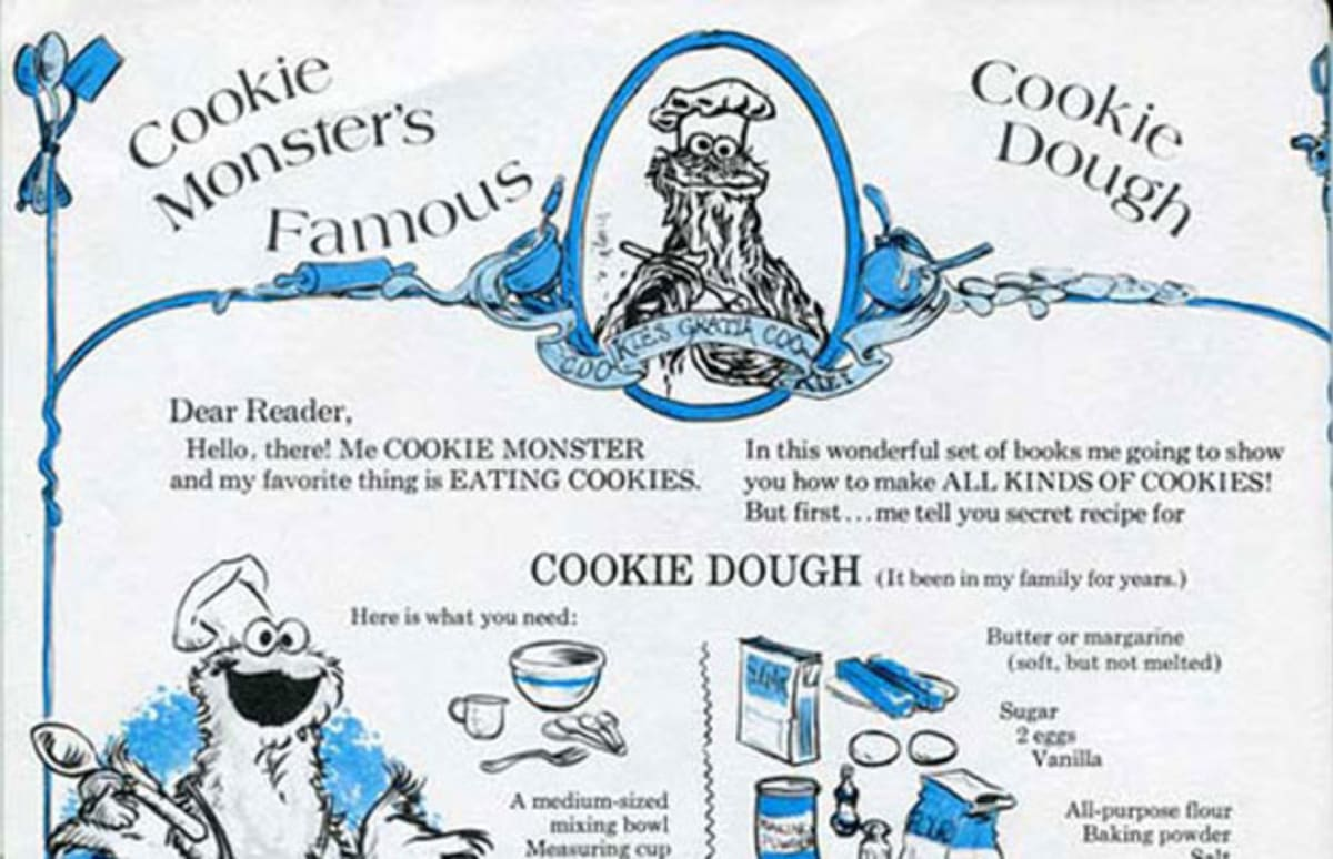 Cookie Monster's Famous Cookies Dough Recipe From The '70s ...
