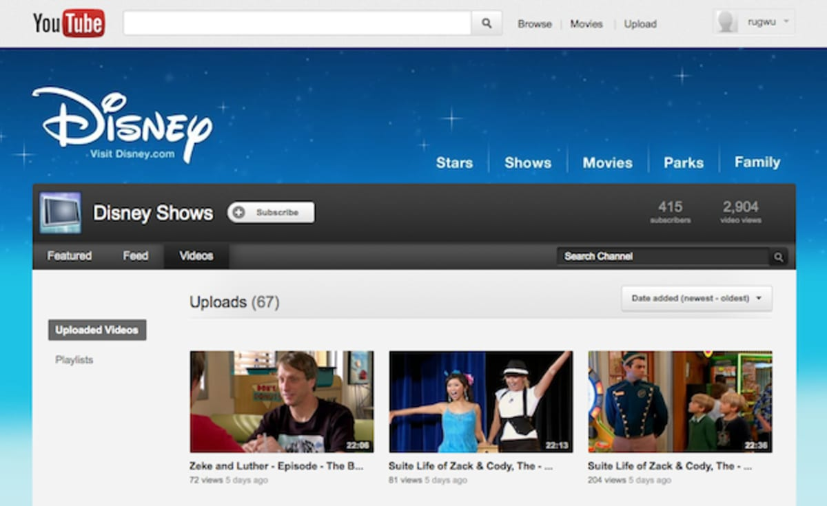 disney channel shows now streaming for free on youtube complex. Black Bedroom Furniture Sets. Home Design Ideas