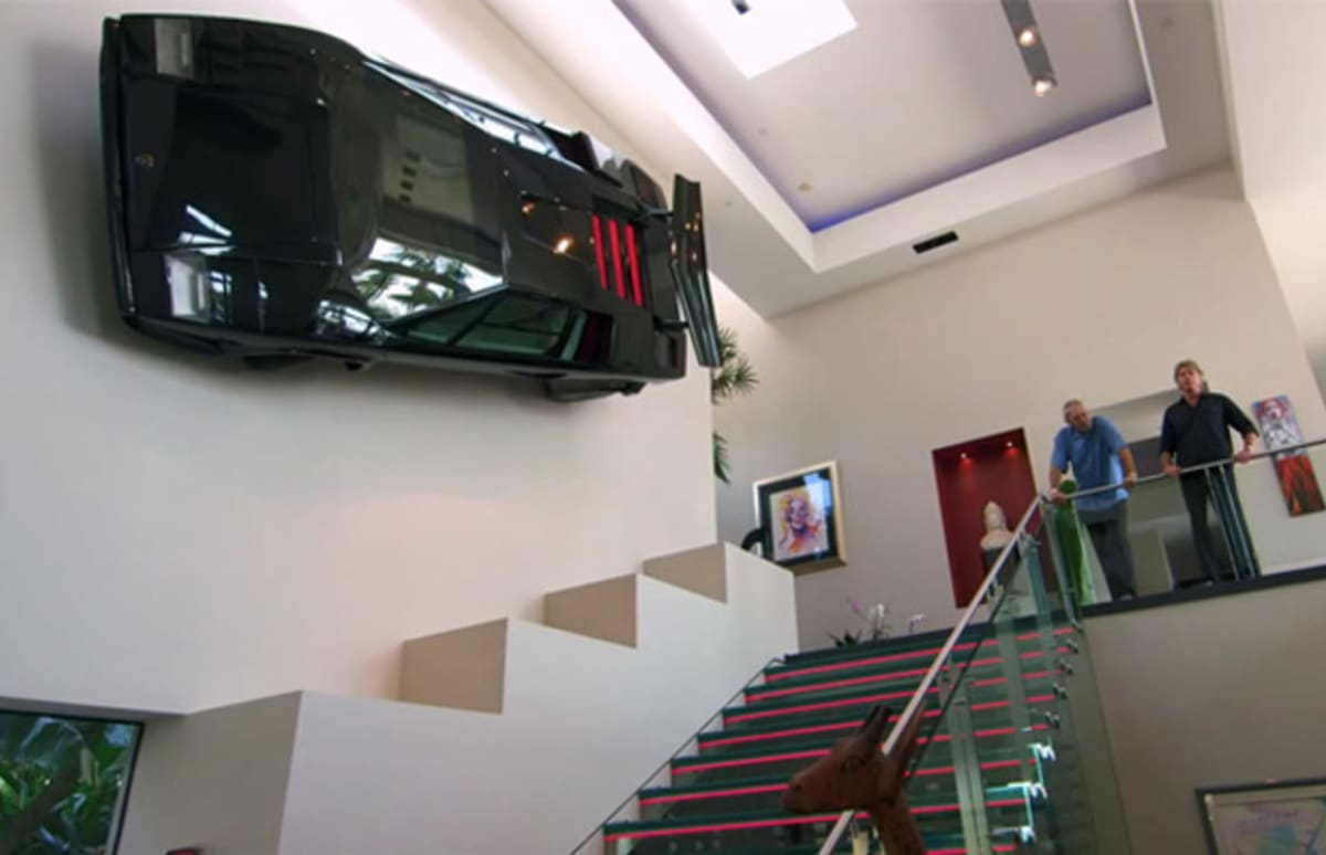 This Millionaire Hung A Lamborghini Countach On His Wall
