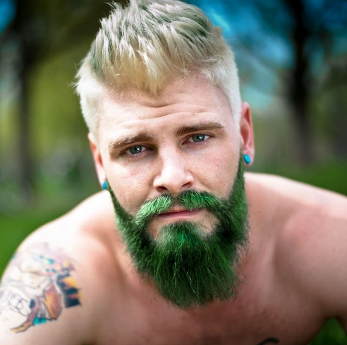 Men Are Dyeing Their Beards Bright Colors