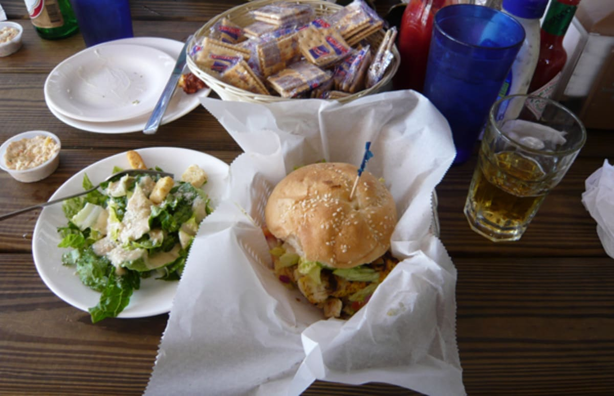 Sandwich of the week grilled grouper at garcia 39 s seafood for Fresh fish market miami