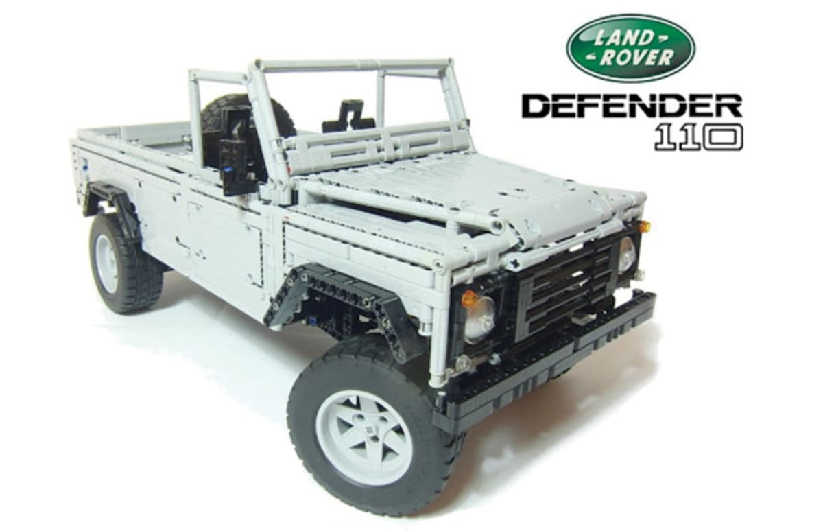 this functioning land rover defender 110 is made entirely from legos complex. Black Bedroom Furniture Sets. Home Design Ideas