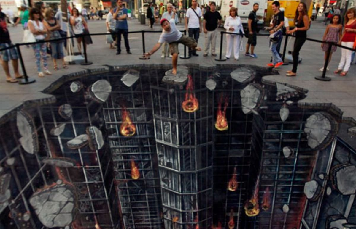quotthe dark knight risesquot 3d street art complex