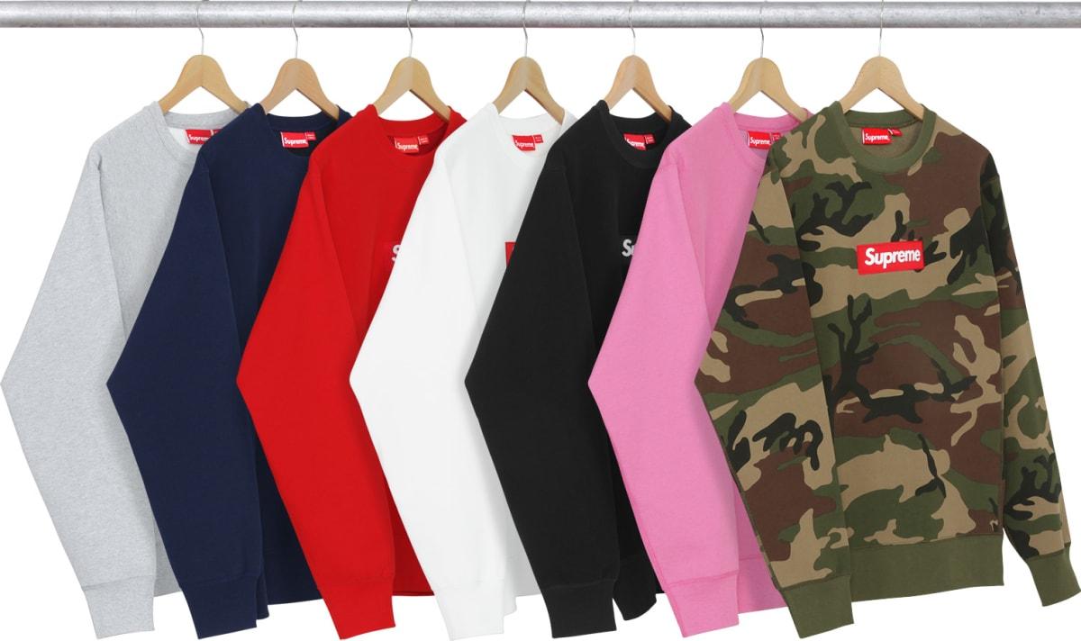 box logo hoodie fw17. supreme drops box logo sweatshirt internet promptly explodes complex hoodie fw17