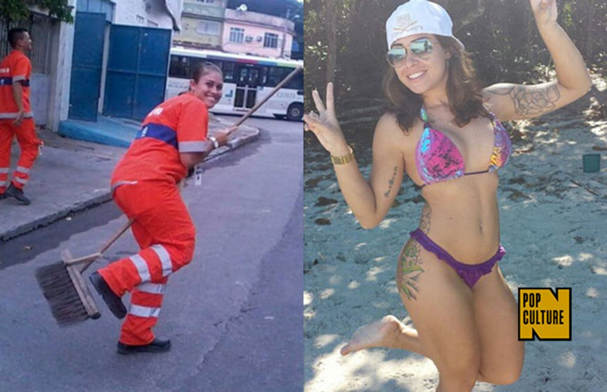 Hot Brazilian Girl throughout brazilian street cleaner ponders career change after her photos go