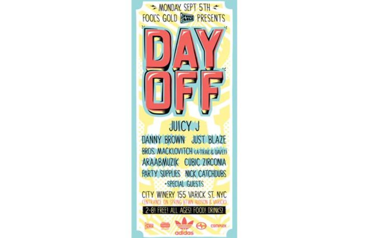 Reminder: Fool's Gold Day Off Is Tomorrow (9/5) in NYC ...