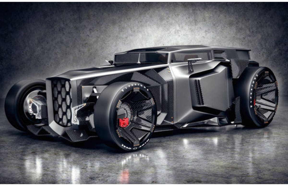 this is the carbon fiber rat rod that lamborghini would never make  but should
