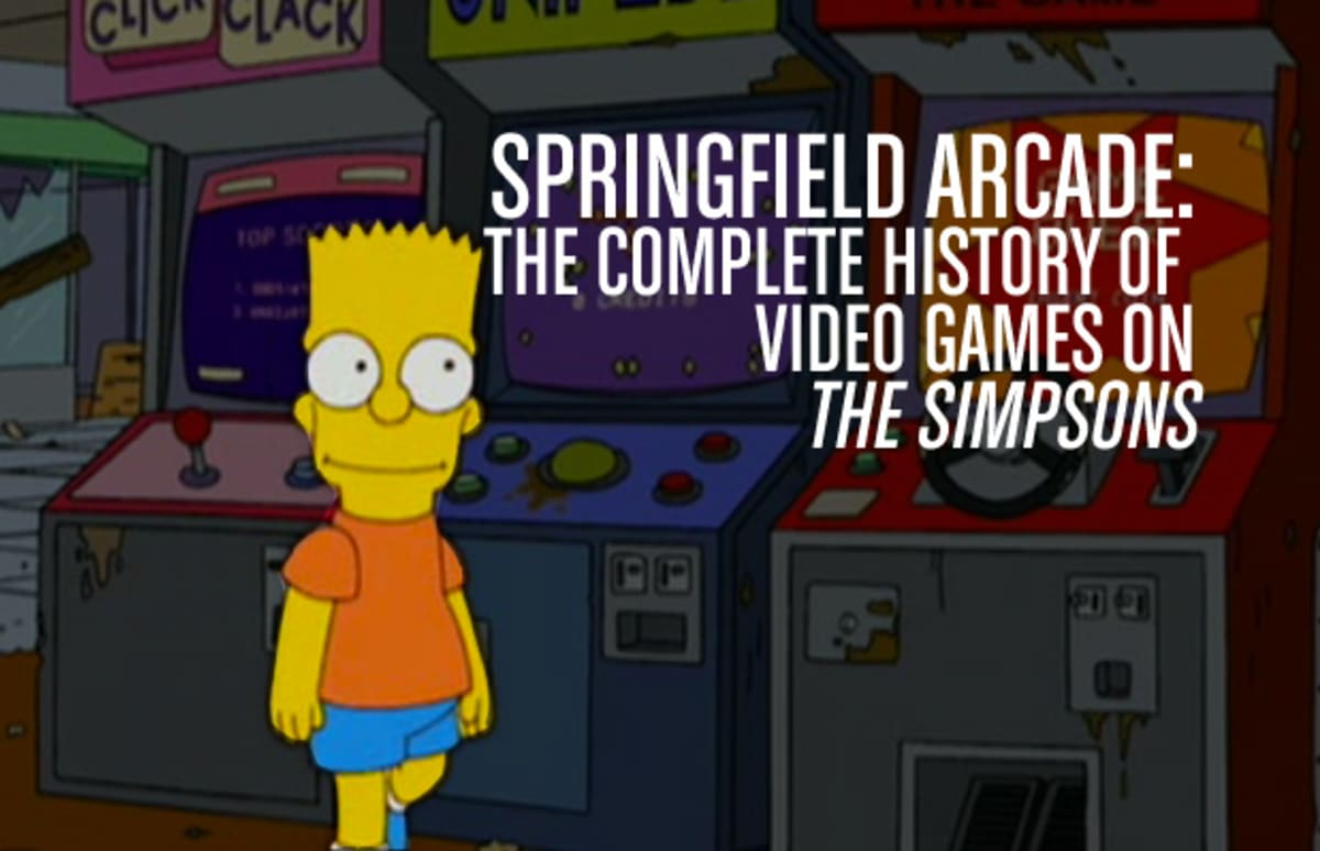 """Hentai Arcade Games pertaining to the complete history of video games on """"the simpsons"""" 