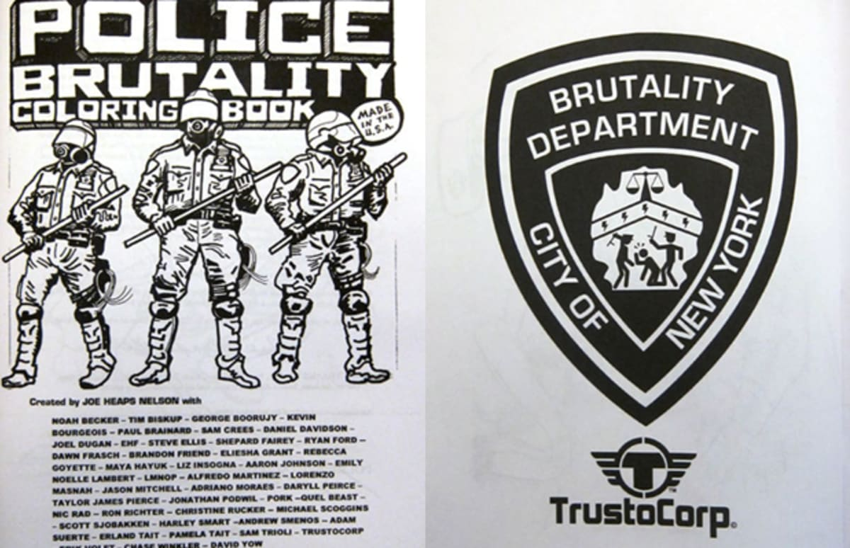 Nelson Auto Center >> Look At This! Police Brutality Coloring Book | Complex