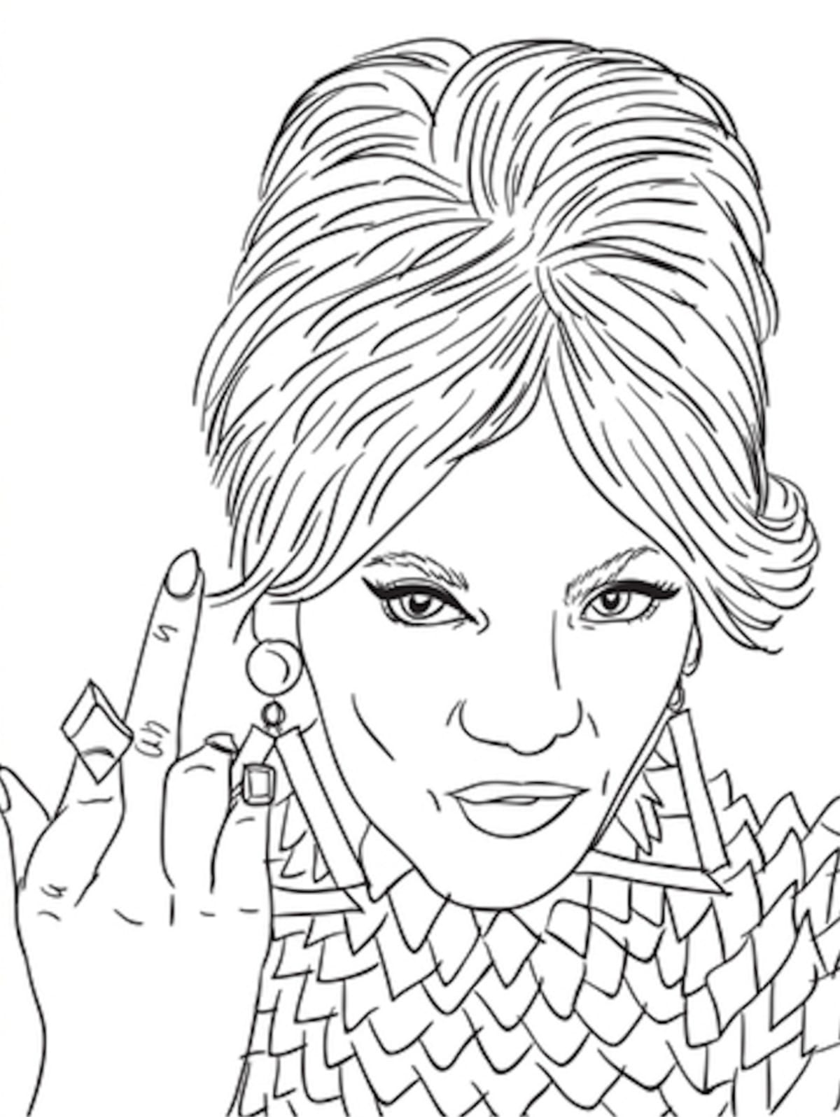 two women coloring page for adults quot evolution of beyonce quot coloring book is the way to 7923