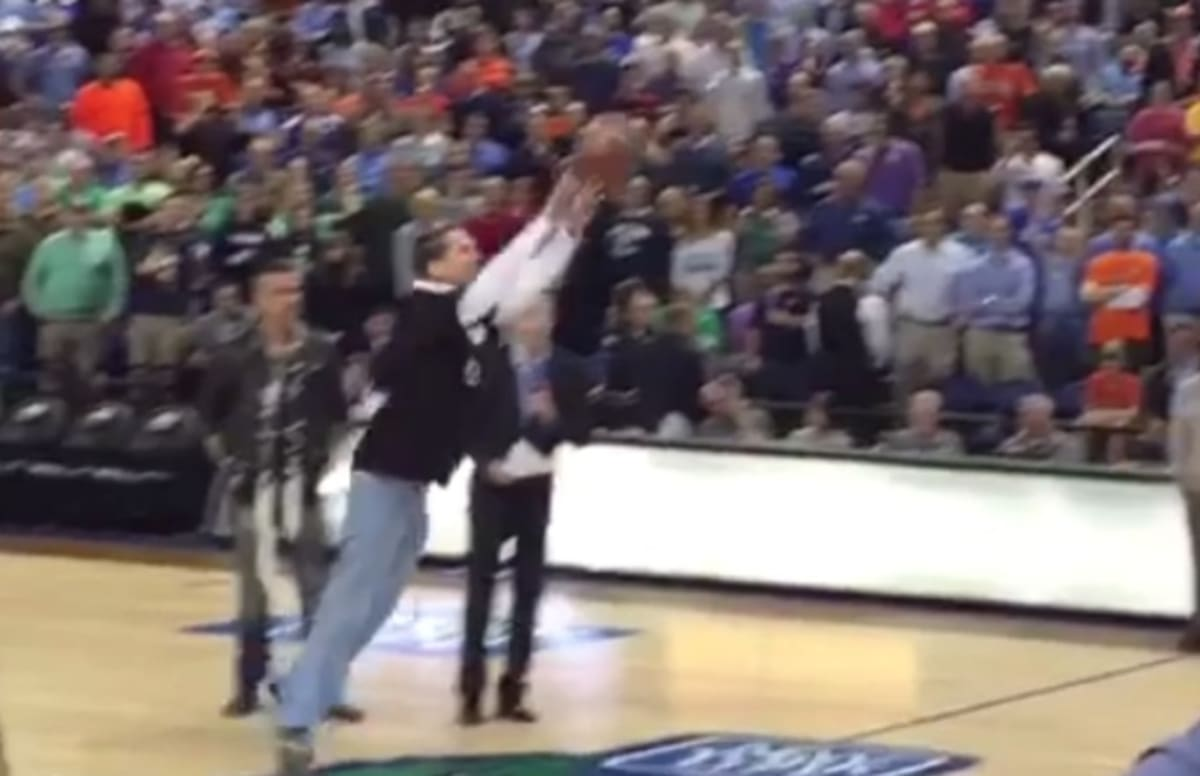 Fan Attempts Half-Court Shot to Win $1 Million, Doesn't ...