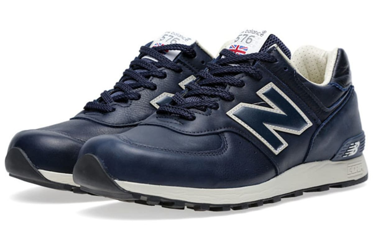 New Balance Shoes Blue Leather