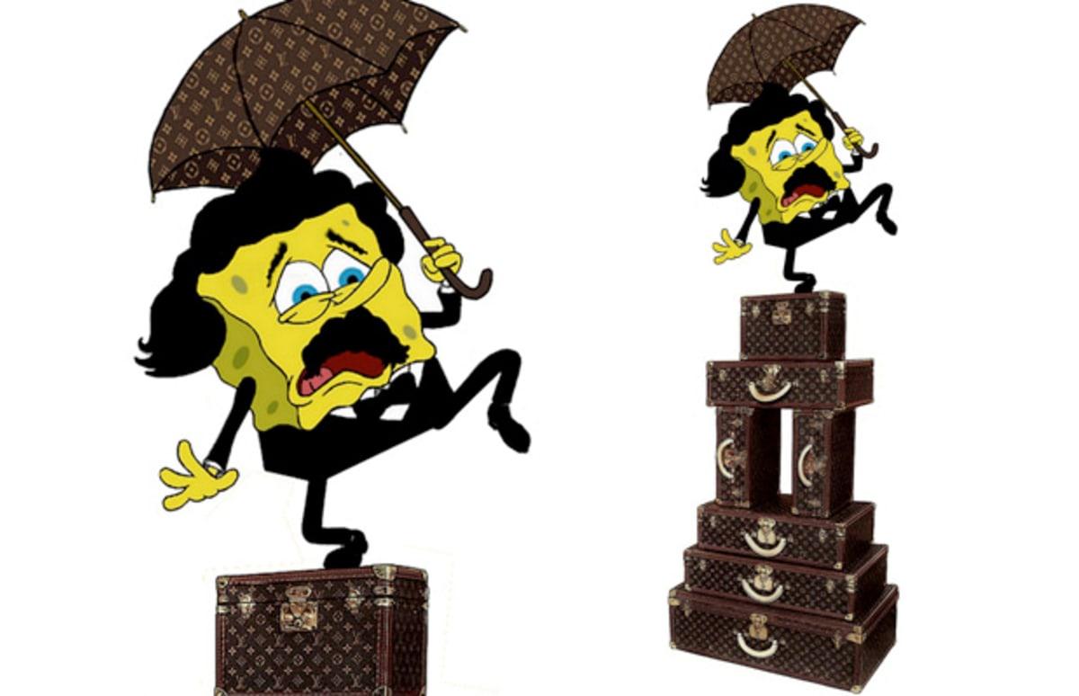 louis vuitton gets the spongebob treatment from dutch