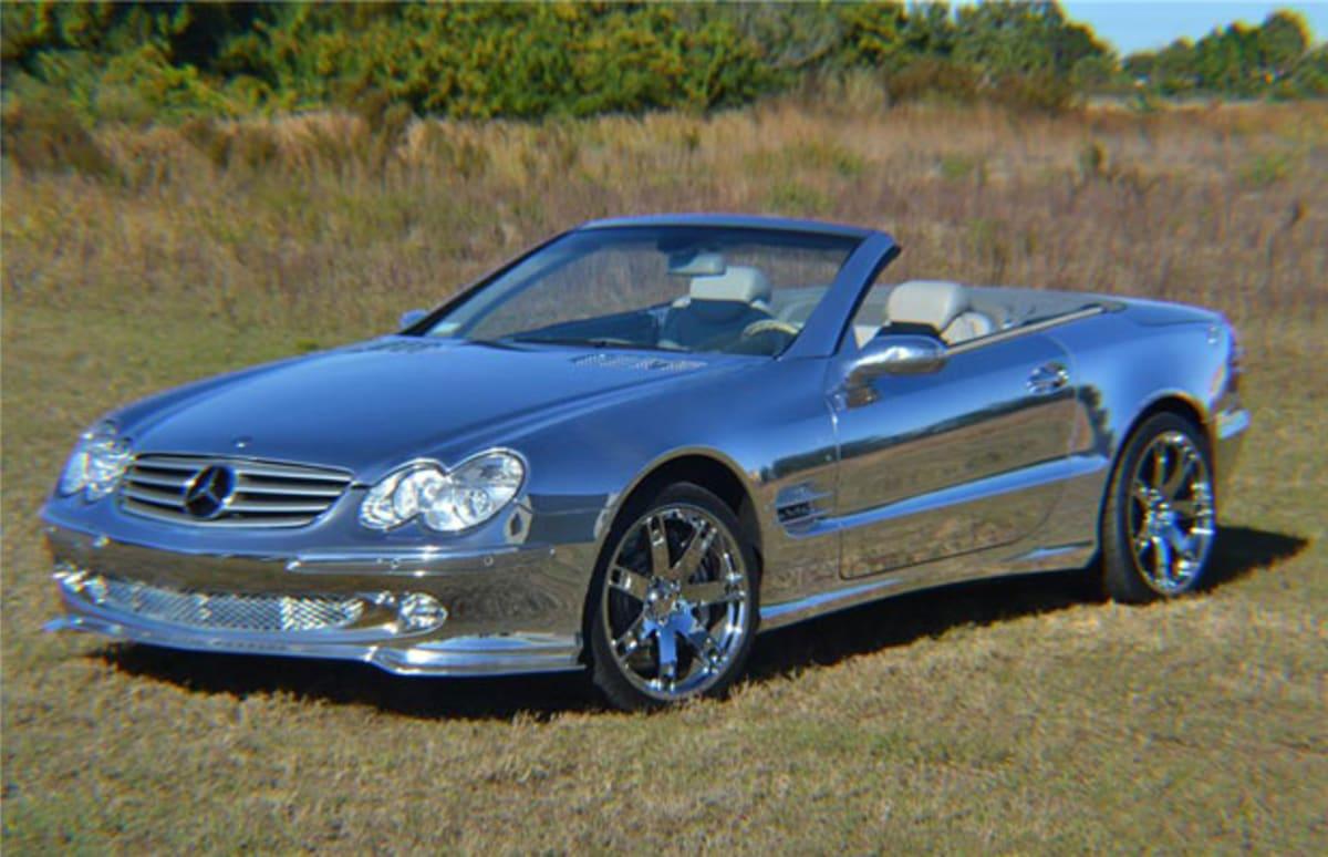 All chrome mercedes benz convertible auctions for 155 000 for Chrome mercedes benz