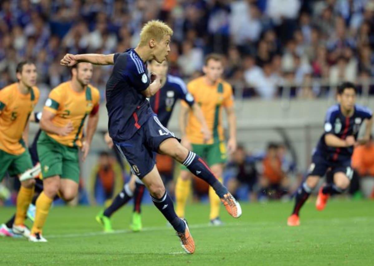 Keisuke Honda Fires Japan into the Lead GIF