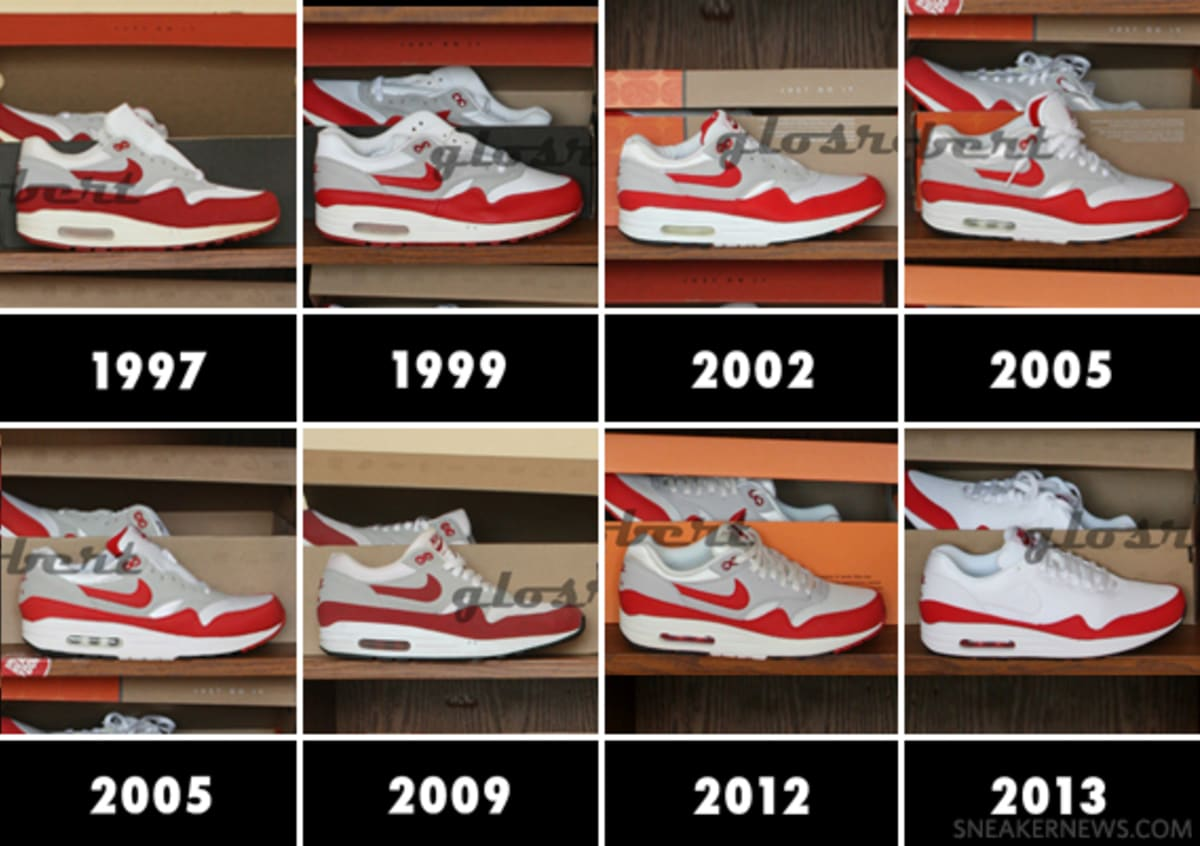 "f978cce435d ... Nike Air Max 1 ""OG Red"" – 8 Generations of Retros"