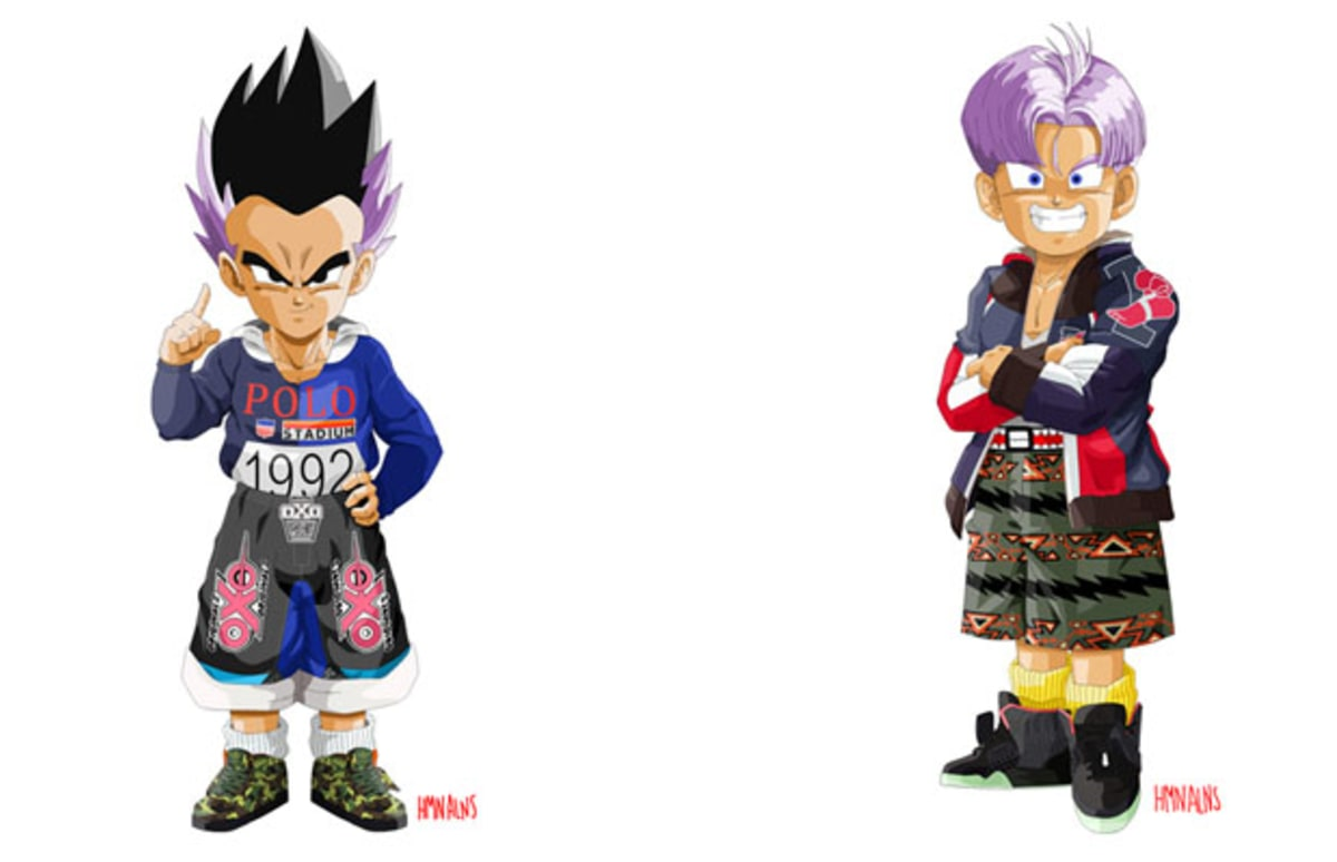 Dragon Ball Z Characters Get A Streetwear Transformation
