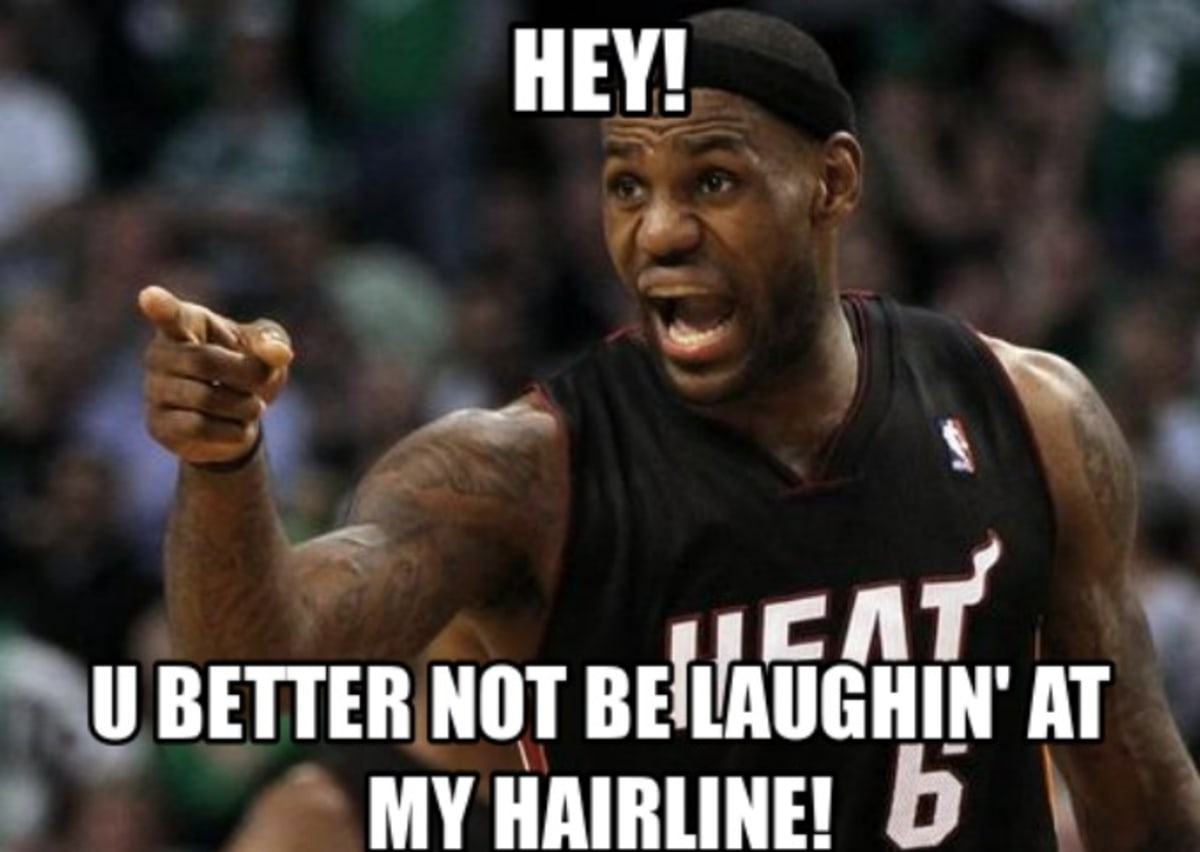 Funny Meme Upload : The 50 meanest lebron james hairline memes of all time complex