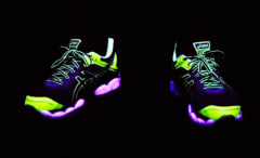 Glow in the dark shoes lead