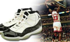 Michael Jordan Game Worn Concord Air Jordan 11 72-10 1996