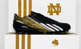 classic fit f1c15 ae682 Notre Dame To Debut the adidas adiZero 5-Star 2.0 in Tonights BCS Title  Game