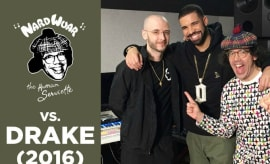 Nardwuar interviews Drake and 40