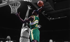 Shawn Kemp Action Portrait