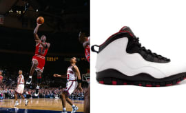 "Michael Jordan in the Air Jordan 10 ""Chicago"""