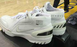 LeBron James Brought His Rookie Sneakers to the NBA Finals