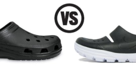 28d967f6828 Who Did It Better  Nike HTM Solar Soft Sandal vs. Crocs Classic