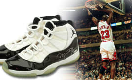 Michael Jordan Game Worn Concord Air Jordan 11 72-10 1996