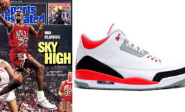 Michael Jordan in the Air Jordan 3
