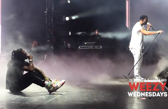 Watch Lil Wayne and Drake Smoke a Blunt and Sing quotHold On