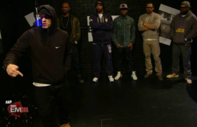 eminem freestyles with slaughterhouse on bet 39 s the backroom a