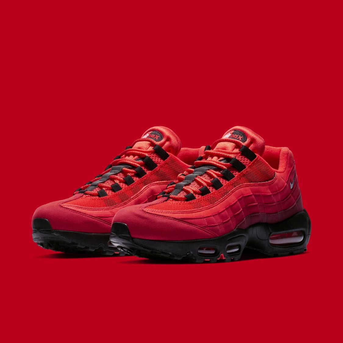 843cc717dd5485 Nike Air Max 95  Habanero Red Black-White  AT2865-600 Release Date ...