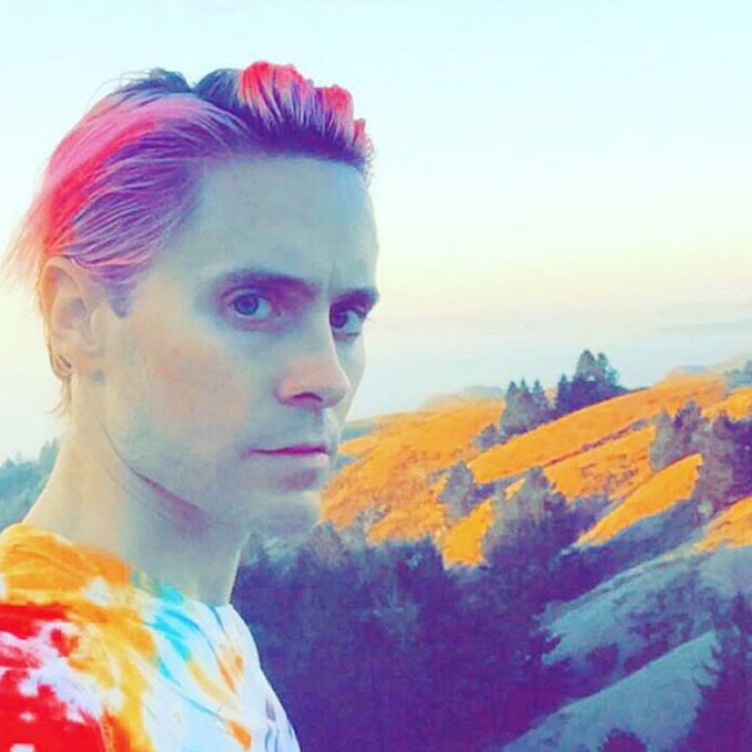 Jared Leto Colorful Selfie via @JaredLeto