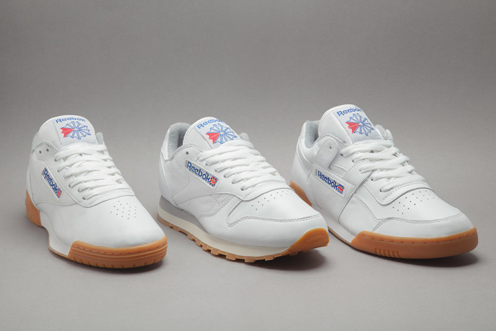 on sale f7448 d40a7 Images via Foot Patrol. White sneakers with gum ...