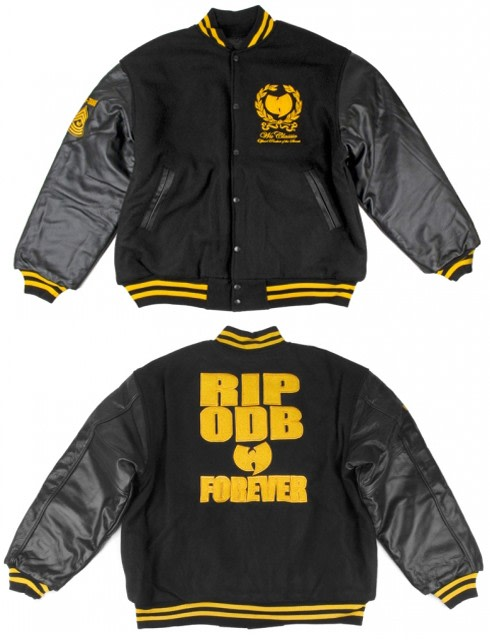 eb4bb1b3 A Wu-Tang Life Varsity Jacket, Graphic T-Shirt (Below Right) and Everybody  Hi Sneakers (Below Left) from ALIFE.